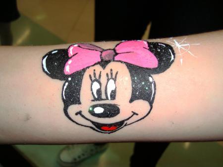 Minnie em pintura artística