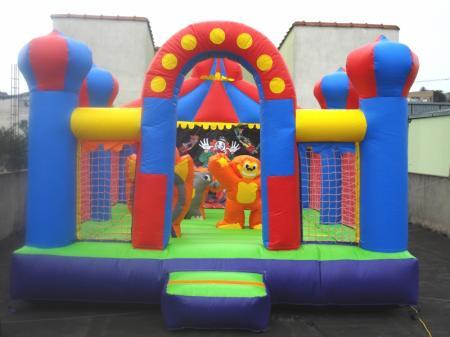 Kiddie Play Circo - Medida necessária para a montaqgem: Largura: 4,0 x 5,0 x 3,0