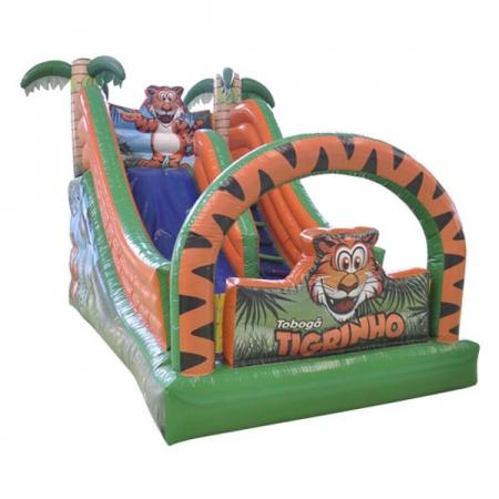 Tobogã Pequeno Tigrinho - Medida necessária para a montagem: 2,80 x 5,50 x 3,70
