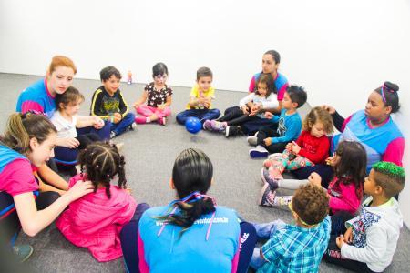 Interação entre as crianças
